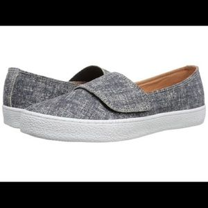 Corso Como Blue suede Lowe's slip on loafer